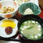 甚五郎寿し - 焼き魚定食(小鉢他)その2