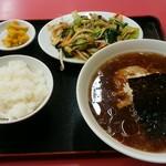竹岡らーめん - 野菜炒めラーメンセット