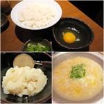 59463570 - 〆の雑炊¥399/追加水炊きスープ¥299