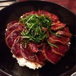 知伽良 - ぎゅうぎゅう漬丼 ワサビ醤油に漬け込まれたヒレ肉