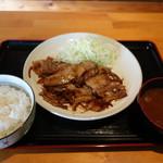 キャプテンぶぅひぃず - 2016.11 三元豚の焼肉定食(800円)