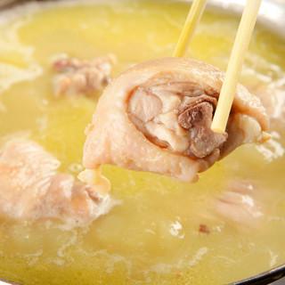 コラーゲンたっぷり!刀根赤鶏の水炊き鍋