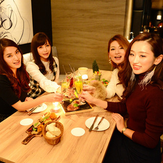 名駅で女子会ならボカチカ♪120分飲放女子会コース4000円