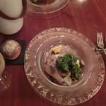Le Vert Frais - オードブル「海老の旨味がギュッと詰まったアンコウのテリーヌ」