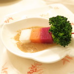 アルモニー ビアン - アミューズ 季節地野菜の信州味噌バーニャカウダ