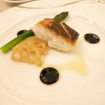 アルモニー ビアン - 鯛のポアレ バルサミコソース 一番絞りのオリーブオイルの香り