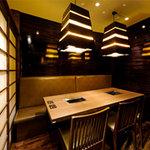 焼肉トラジ - 内観写真:プライベート感たっぷりの個室