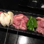 鶏焼 悠楽 - 鶏セット 1800円 もも・せせり・はらみ