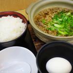 桂川パーキングエリア(下り線)スナックコーナー - 牛すい定食  ごはん  たまご  シンプル
