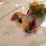 59482963 - 前菜1皿目 海の幸とポワロー