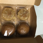 榮太樓總本鋪 - 料理写真:一家族一個の生菓子 4個入り 200円  芋きんつば  黒みつ饅頭