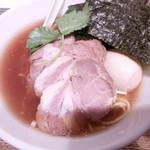 新橋 纏 - 特製平子煮干しそば950円