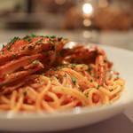 59488295 - カニトマトクリームソースのスパゲッティ☆
