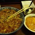 清来軒 - 料理写真:ルースータンメンとミニ天津丼のセットH28.11