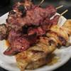 野豚 - 料理写真:ハツ、カシラ、ナンコツ、レバー、シロ