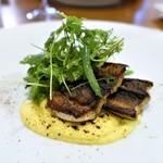 イタリア料理店 TAMANEGI - 料理写真:熊本ウナギのソテー、トウモロコシのソース