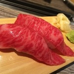 塩焼肉 二郎 - 昆布〆赤身握り寿司