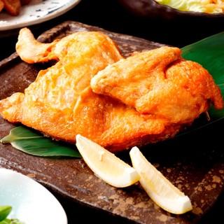【看板料理】豪快!知床鶏の半身揚げ