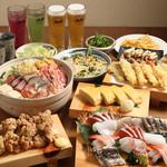 七代目漁師町酒場 - 料理写真:4800円コース