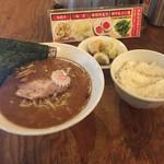 七代目  玉五郎 - 煮干しらーめん白飯セット(980円)