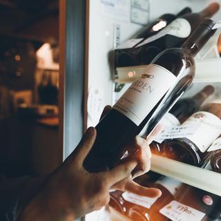 約40種類の上質なワインをリーズナブルに