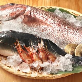 産地直送の旬のお魚。特に今の季節は「鰹のわら焼き」です!