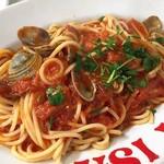 59524878 - 魚介類とフレッシュトマトのパスタ(※平打ち麺から変更)