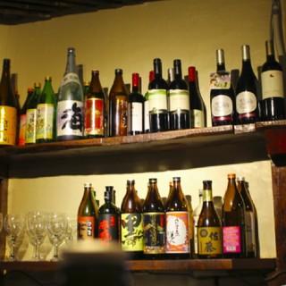 全国のおいしい日本酒でお出迎え