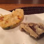 料理旅館・天ぷら吉川 - 南瓜と椎茸
