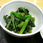 ニイハオ!ポンユウ - 青菜カツオ節和え