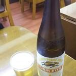 竹山食堂 - ビール(大)600円 キリン一番搾り