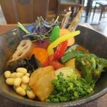 Rojiura Curry SAMURAI.  - 一日分の野菜20品目アップ