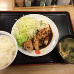 松屋 - 厚切り豚テキ定食/¥730