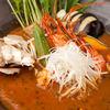 年輪 - 料理写真:月に2度しか味わえない 幻の海老出汁チキンスープカレー 980円