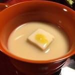 美山荘 - 香茸豆腐水からし白味噌仕立て