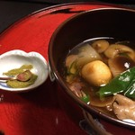 美山荘 - 実山椒とキノコ鍋