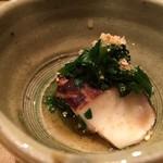 美山荘 - 朝食、原木椎茸菊菜和え