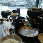 Shourenkanyoshinoya - 間人港を眺めながらの朝食です。