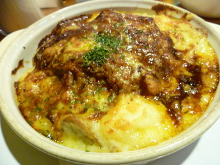 カフェ ド ラム 下通り店 - ハンバーグドリア✿880円(サラダ、ドリンク付)