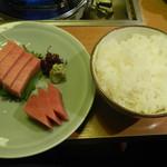ちゃんこ大麒麟 - 鮪中トロ&ご飯