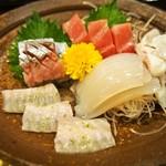 帆掛鮨 - お造り盛り合わせ(2016年11月)