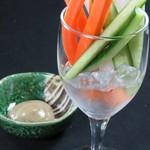 付出しのスティック野菜 自家製アンチョビソース