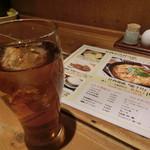 ひないや - ドリンク写真:ビッグサイズのウーロン茶 (^q^)v