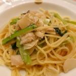 ピッツェリア・サバティーニ - 白身魚とカブ アンチョビのスパゲッティ