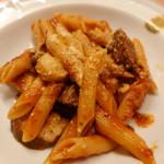 ピッツェリア・サバティーニ - イベリコ豚ホホ肉の煮込みとポルチーニのペンネ