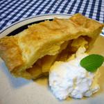 カフェ サバド - 大人気のホームメイドアップルパイ