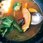 Curry Dining MOMO - 中に野菜がたくさん沈んでいます~♪