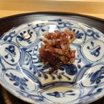 淡 如雲 - イベリコ豚と牛タン?の干し肉西京味噌和え