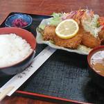 おうぎ亭 - 料理写真:ミックスフライ定食