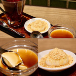 桃李蹊 - 杏仁豆腐とピーナッツ団子